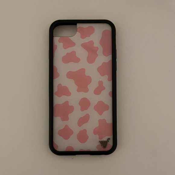 pink cow print wildflower case 6/7/8
